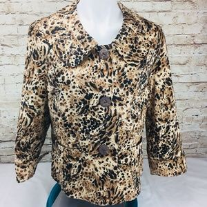 Chaus Womens Blazer Jacket SZ Lg Brown